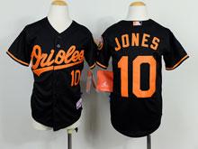 Youth Mlb Baltimore Orioles #10 Adam Jones Black Cool Base Jersey