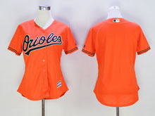 Women Mlb Baltimore Orioles Blank Orange Cool Base Jersey