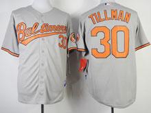 Mens Mlb Baltimore Orioles #30 Chris Tillman Gray Cool Base Jersey