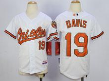 Youth Mlb Baltimore Orioles #19 Chris Davis White Cool Base Jersey