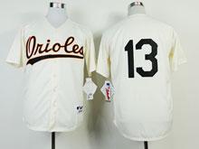 Mens Mlb Baltimore Orioles 13 Manny Machado ( No Name ) 1954 Throwbacks Cool Base Jersey