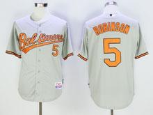 Mens Mlb Baltimore Orioles #5 B.robinson Gray Cool Base Jersey
