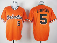 Mens Mlb Baltimore Orioles #5 B.robinson Orange Pullover Cool Base Jersey