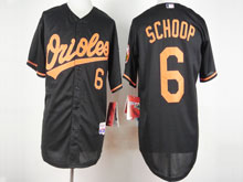 Mens Mlb Baltimore Orioles #6 Jonathan Schoop Black Cool Base Jersey