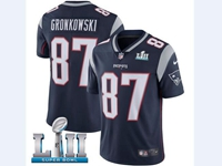 Mens Women Youth New England Patriots #87 Rob Gronkowski Blue 2018 Super Bowl Lii Bound Vapor Untouchable Limited Jersey