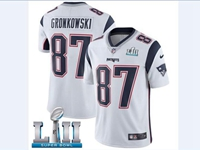 Mens Women Youth New England Patriots #87 Rob Gronkowski White 2018 Super Bowl Lii Bound Vapor Untouchable Limited Jersey