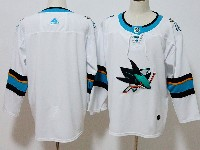 Mens Women Youth San Jose Sharks Blank White Away Adidas Jersey