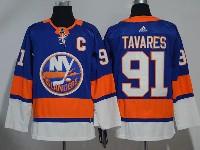 Mens Nhl New York Islanders #91 John Tavares Blue Adidas Jersey