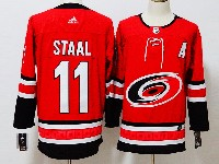 Mens Nhl Carolina Hurricanes #11 J.staal Red Home Adidas Jersey