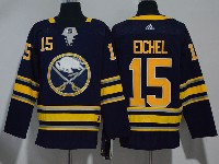 Mens Nhl Buffalo Sabres #15 Jack Eichel Dark Blue Adidas Jersey