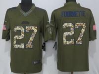 Nfl Jacksonville Jaguars #27 Leonard Fournette Green Salute To Service Nike Limited Jersey