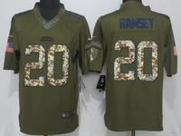 Mens Nfl Jacksonville Jaguars #20 Jalen Ramsey Green Salute To Service Nike Limited Jersey