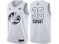 Mens Nba 2018 All Star Golden State Warriors #35 Kevin Durant White Jersey
