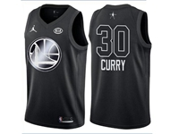 Mens Nba 2018 All Star Golden State Warriors #30 Stephen Curry Black Jersey