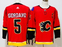 Mens Nhl Calgary Flames #5 Mark Giordano Red Adidas Jersey