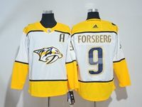 Mens Nhl Nashville Predators #9 Filip Forsberg White Adidas Jersey