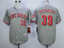 Mens Mlb Cincinnati Reds #39 Mesoraco Gray Cool Base Jersey