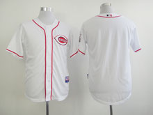 Mens Majestic Cincinnati Reds Blank White Cool Base Jersey