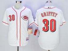 Mens Mlb Cincinnati Reds #30 Ken Griffey White Cool Base Jersey
