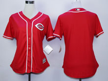 Women Majestic Cincinnati Reds Blank Red Cool Base Jersey
