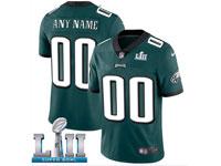 Mens Women Youth Nfl Philadelphia Eagles Dark Green Custom Made 2018 Super Bowl Lii Bound Vapor Untouchable Limited Jersey