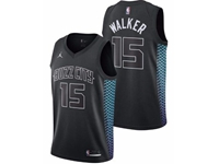 Mens Nba Charlotte Hornets #15 Kemba Walker Black Jordan Brand City Edition Swingman Jersey