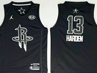 New Mens Nba 2018 All Star Houston Rockets #13 James Harden Black Jersey