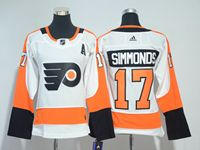 Women Nhl Philadelphia Flyers #17 Wayne Simmonds (a) Patch White Adidas Jersey