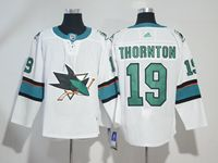 Mens Nhl San Jose Sharks #19 Joe Thornton White Adidas Jersey