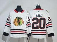 Mens Nhl Chicago Blackhawks #20 Brandon Saad  White Adidas Jersey