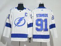 Mens Nhl Tampa Bay Lightning #91 Steven Stamkos White Adidas Jersey