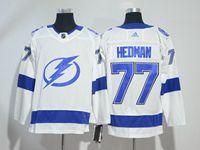Mens Nhl Tampa Bay Lightning #77 Victor Hedman White Adidas Jersey