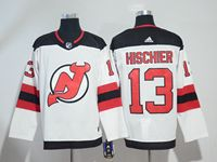 Mens Nhl New Jersey Devils #13 Nico Hischier White Adidas Jersey