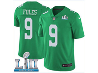 Mens Women Youth Nfl Philadelphia Eagles #9 Nick Foles Light Green 2018 Super Bowl Lii Bound Vapor Untouchable Limited Jersey