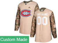 Mens Nhl Montreal Canadiens Custom Made Khaki Camo Adidas General Jersey