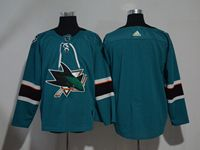 Mens San Jose Sharks Blank Blue Home Adidas Jersey
