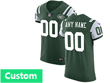 Mens New York Jets Custom Made Green Vapor Untouchable Limited Jersey