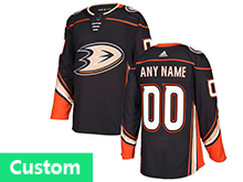 Mens Adidas Anaheim Mighty Ducks (custom Made) Black Jersey