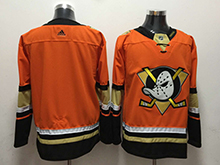 Mens Nhl Anaheim Mighty Ducks Blank Orange Adidas Jersey