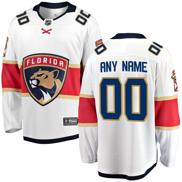Mens Women Youth Nhl Florida Panthers Custom Made White Adidas Jersey