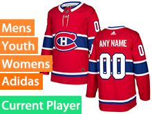 Mens Women Youth Adidas Montreal Canadiens Red Home Current Player Jersey