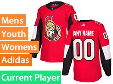 Mens Women Youth Adidas Ottawa Senators Red Home Current Player Jersey