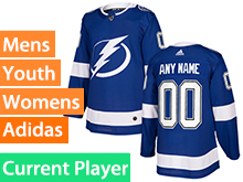 Mens Women Youth Adidas Tampa Bay Lightning Royal Blue Home Current Player Jersey