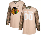 Mens Women Youth Nhl Chicago Blackhawks (custom Made) Khaki Adidas General Jersey