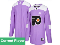Mens Women Youth Nhl Philadelphia Flyers Purple Fights Cancer Adidas Current Player Jersey
