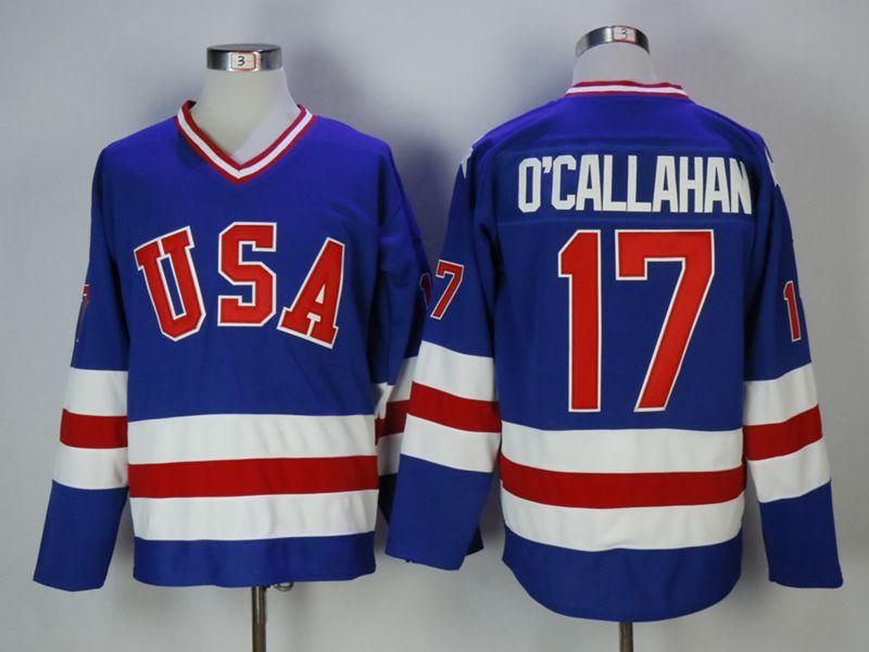 Mens Nhl Team Usa #17 O'callahan Blue Jersey