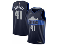 Mens Nba Dallas Mavericks #41 Dirk Nowitzki Nike Dark Blue Statement Edition Jersey