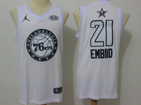 Mens Nba 2018 All Star Philadelphia 76ers #21 Joel Embiid White Jersey