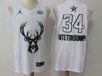 Mens 2018 All Star Nba Milwaukee Bucks #34 Giannis Antetokounmpo White Jersey