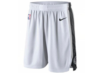 Mens 2017-18 Season Nba San Antonio Spurs Nike White Shorts